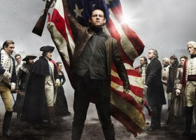 """Abraham Woodhall on the poster for """"Turn."""" (Courtesy of AMC)"""