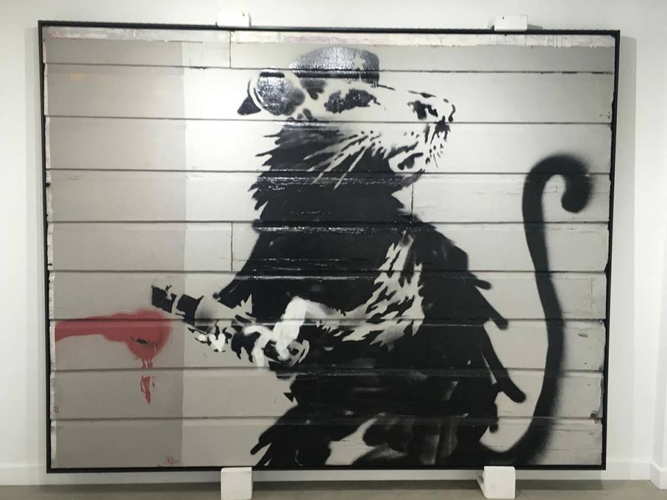 Banksy original street art piece, Haight Street Rat, is on display at Artist Republic gallery in Laguna Beach through Aug. 20 to Oct. 20.