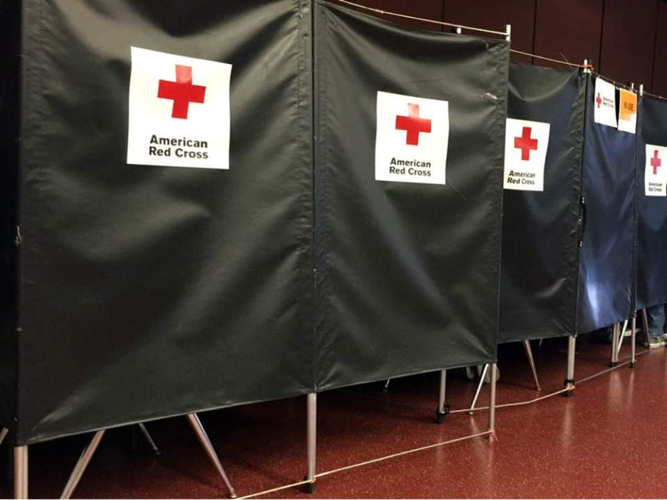 American Red Cross uses pre-examination rooms to ask donors about themselves. (Mackenzie Quinn/Lariat)