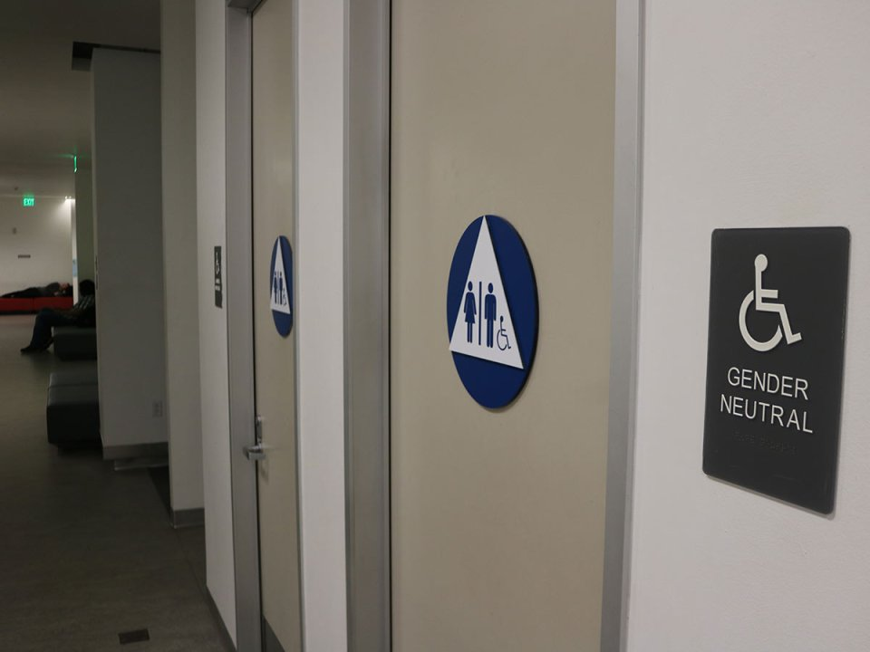 Saddleback College has gender neutral bathrooms in the Learning Resource Center. (Colin Reef/Lariat)
