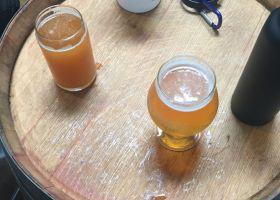 Trail 6 Belgian Blonde Ale and a Coastal Eddy Belgian IPA. (Lesley Naranjo / Lariat)