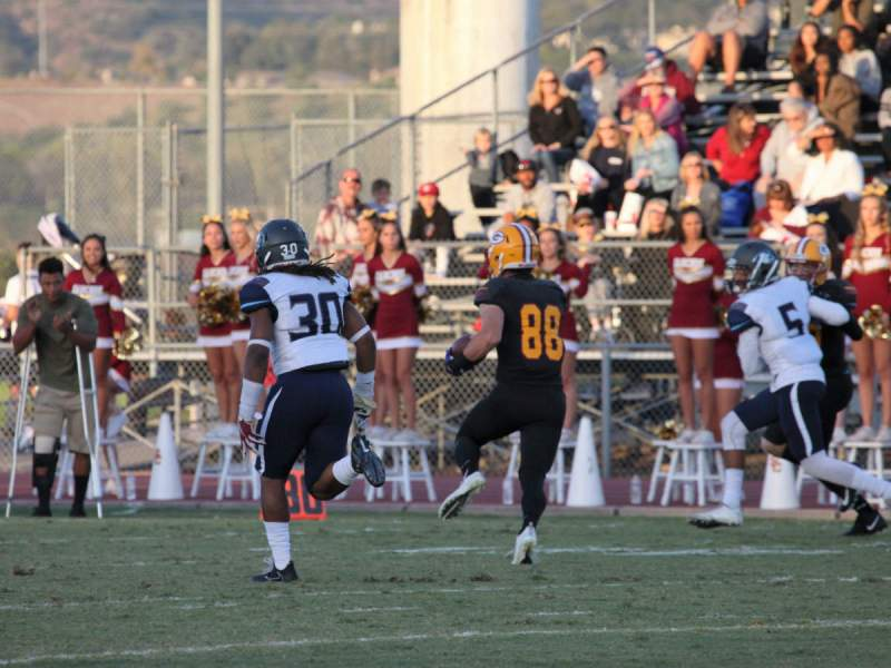 Gauchos Sophomore Wide Receiver #88 Colin Kentros had 5 catches for 51 yards and a touchdown against the Warriors (Adam Gilles/Lariat)