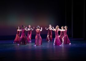 Saddleback College dance department students perform in a ballet number titled Reigning Women. (Photo courtesy of Brittany Lockhart)