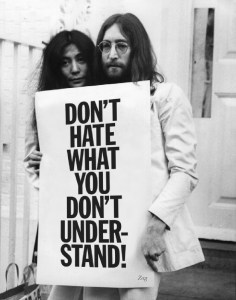 John Lennon and his wife Yoko Ono were advocates for not only peace during the Vietnam War, but also for people's tolerance of diversity. (Pixlr)