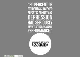 The American College Health Association found that 20 percent of students surveyed reported anxiety and depression had seriously impacted their academic performance. (Ashley Hern)