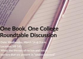 One Book, One College will host roundtable discussion on Wednesday, March 14 from 3 p.m. to 5 p.m. at HS 145. (Ashley Hern)