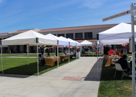 """Saddleback's College International and Diversity Student Council and Associated Student Government present """"Around the World"""" in the campus quadrant on Monday, April 23. (Jonathan Cruce)"""