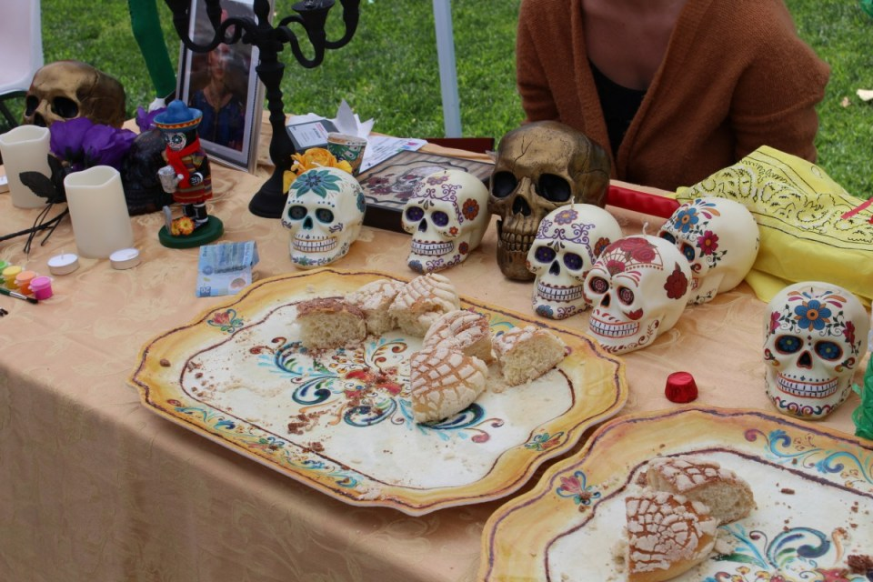 "The Mexican booth at Saddleback College's ""Around the World"" event on Monday, April 23. (Jonathan Cruce)"
