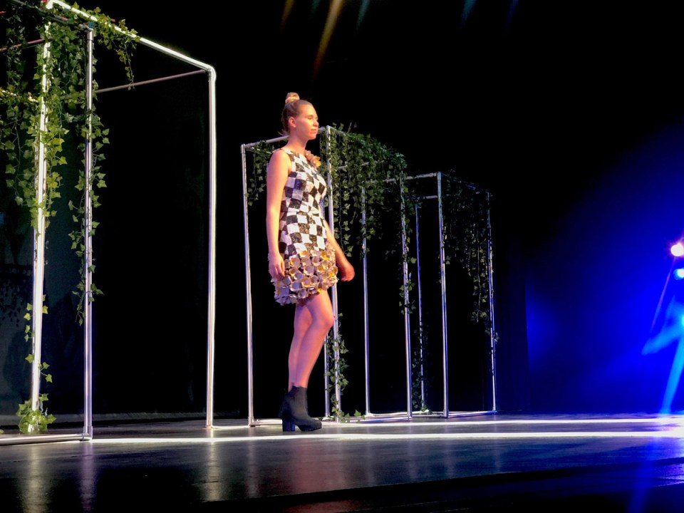This dress took second place in the Unconventional category, designed by Wendy Siegel. (Holly Broxterman/Lariat)