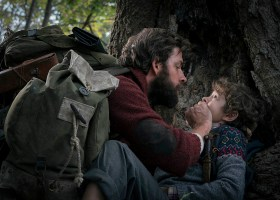 """John Krasinski (left) and Noah Jupe (right) in """"A Quiet Place."""" (Paramount Pictures)"""