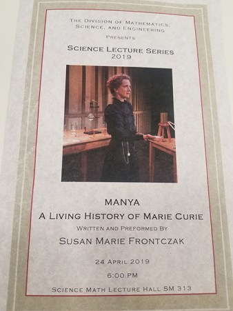 """Science Lecture Series 2019 presents """"MANYA"""" A Living"""