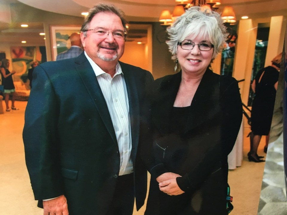 Rick Brown (left) and wife Patricia at a Furnishing Hope fundraising gala in 2018. Rick Brown/courtesy