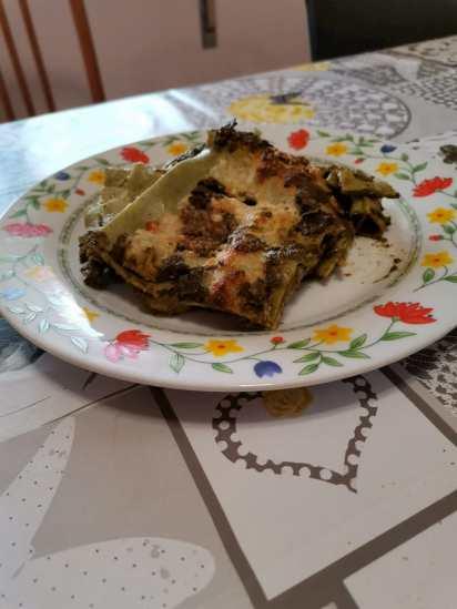 Lasagna agli spinaci e besciamella fatta da me