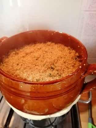 cous cous alla trapanese, la cottura