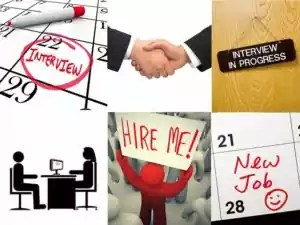 A face to face job interview is often the second or third stage.