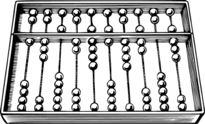 The abacus was initially used for arithmetic tasks. The Roman abacus was developed from devices used in Babylonia as early as 2400 BC