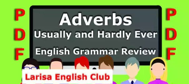 Adverbs Usually and Hardly Ever Grammar Review PDF