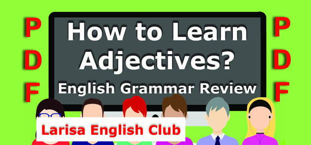 How to learn Adjectives PDF