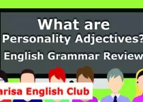 What are Personality Adjectives PDF
