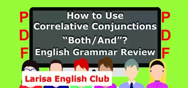 How to Use Correlative Conjunctions Both-And PDF