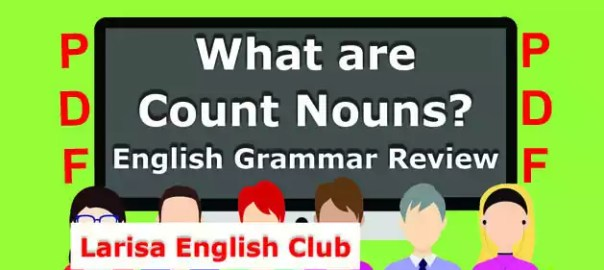 What are Count Nouns PDF