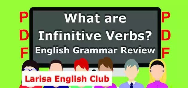 What are Infinitive Verbs PDF