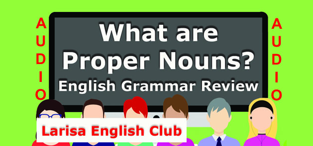 What are Proper Nouns Audio