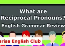 What are Reciprocal Pronouns Audio