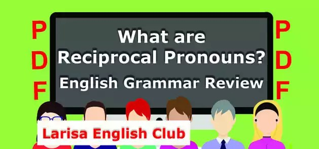 What are Reciprocal Pronouns PDF