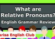 What are Relative Pronouns Audio
