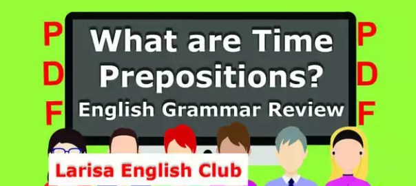 What are Time Prepositions PDF