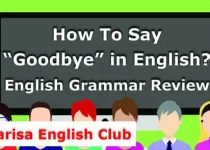 How To Say Goodbye in English Audio