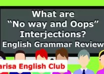 "What are ""No way and Oops"" Interjections PDF"