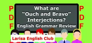 "What are ""Ouch and Bravo"" Interjections PDF"