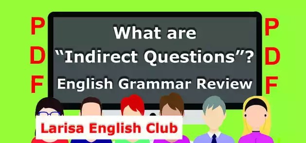 What are Indirect Questions PDF