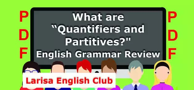 What are Quantifiers and Partitives PDF