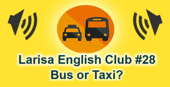 Rush Hour! Bus or Taxi?