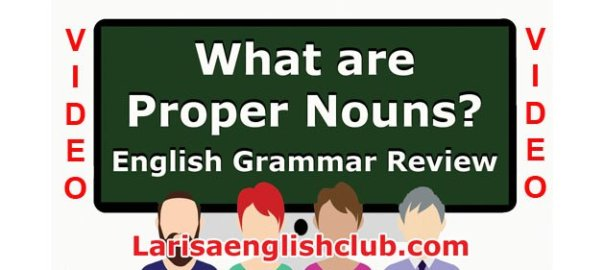 LEC What are Proper Nouns Video