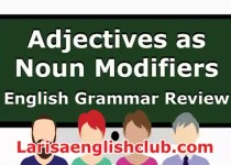 LEC What is a Noun Modifier