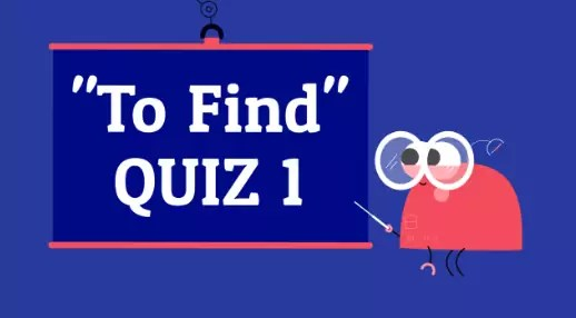 Verb To Find 1 American English Quiz
