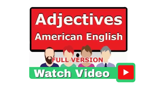 Adjectives Video