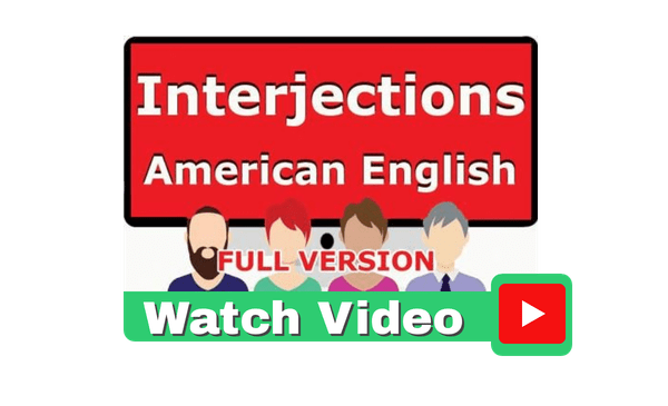 Interjections American English Video