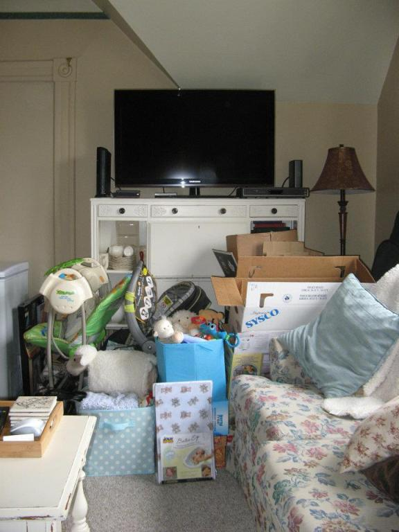 This was right before we moved and had a baby. That was the only place we could collect baby things and moving boxes.