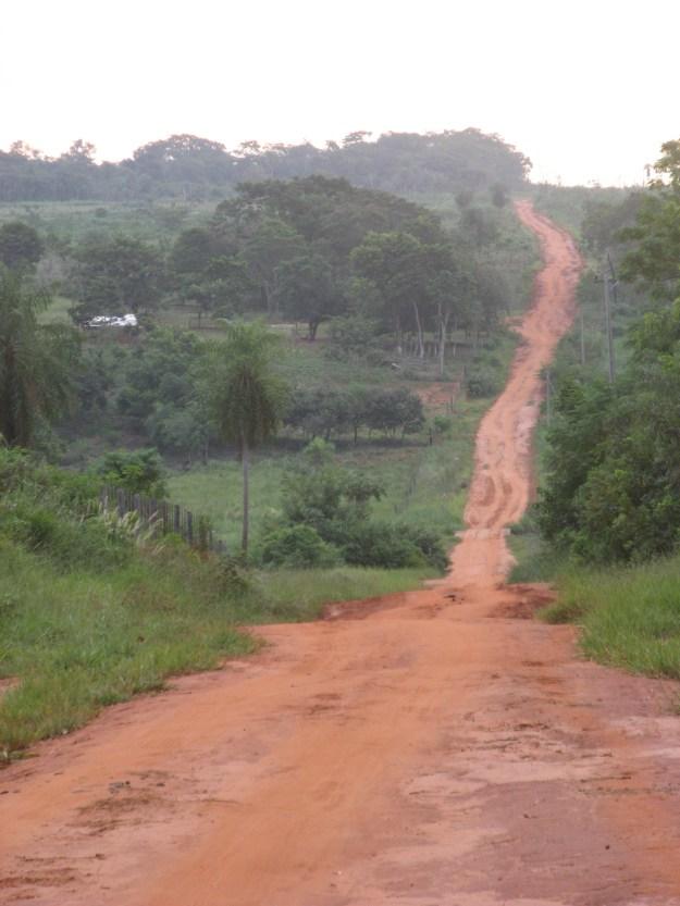Red dirt road.