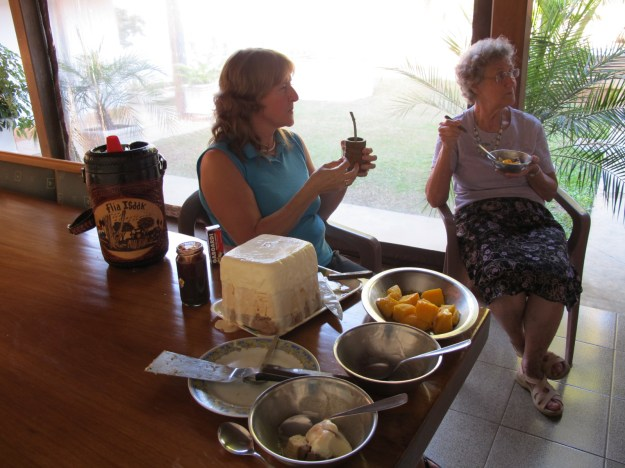 Afternoons were spent on the back patio enjoying terere, ice cream and frozen mangoes from their backyard tree. Delicious!