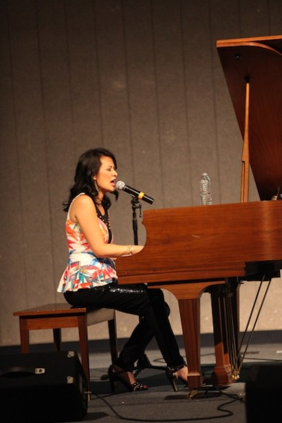 Larissa Lam Singing on Piano