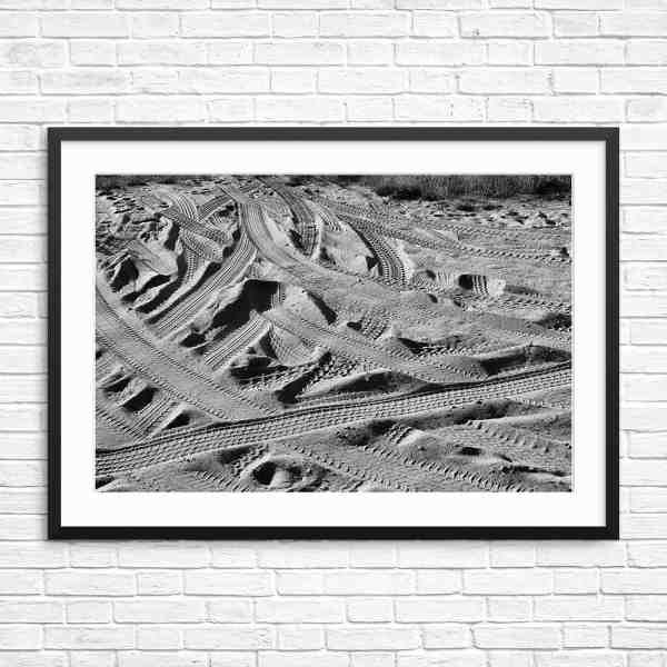 Black & White Piezo Print Framed
