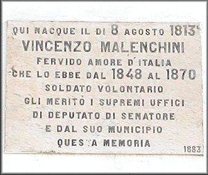 Lapide in memoria di Vincenzo Malenchini, patriota italiano