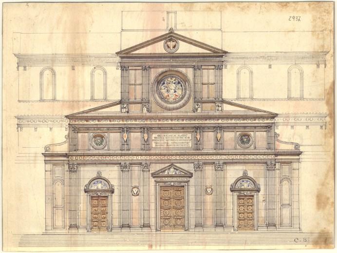 San Lorenzo, facciata, progetto Bazzani, casa Buonarroti, Firenze, mostra
