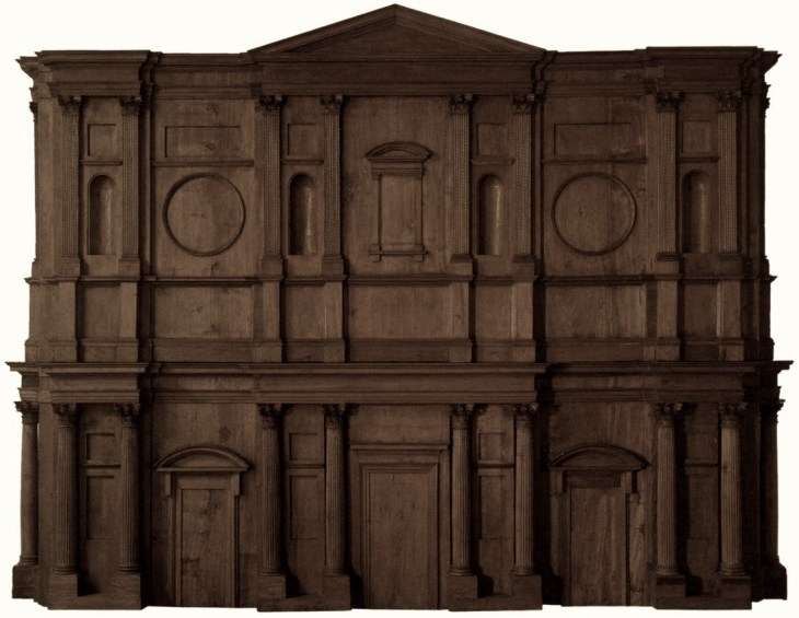 Modellino ligneo per la facciata di San Lorenzo, conservato nella sede della Fondazione Museo Buonarroti.